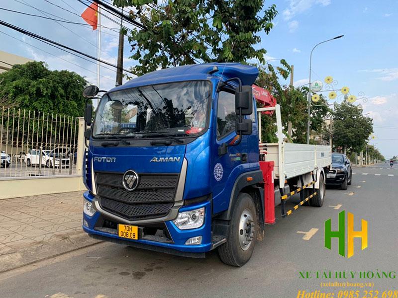 Thaco Auman C160 gắn cẩu Unic 5 tấn