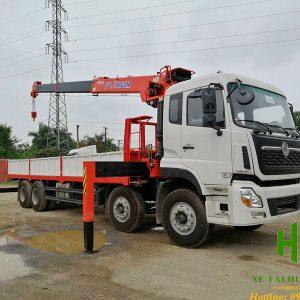 Xe tải Dongfeng 4 chân gắn cẩu Kanglim 8 tấn